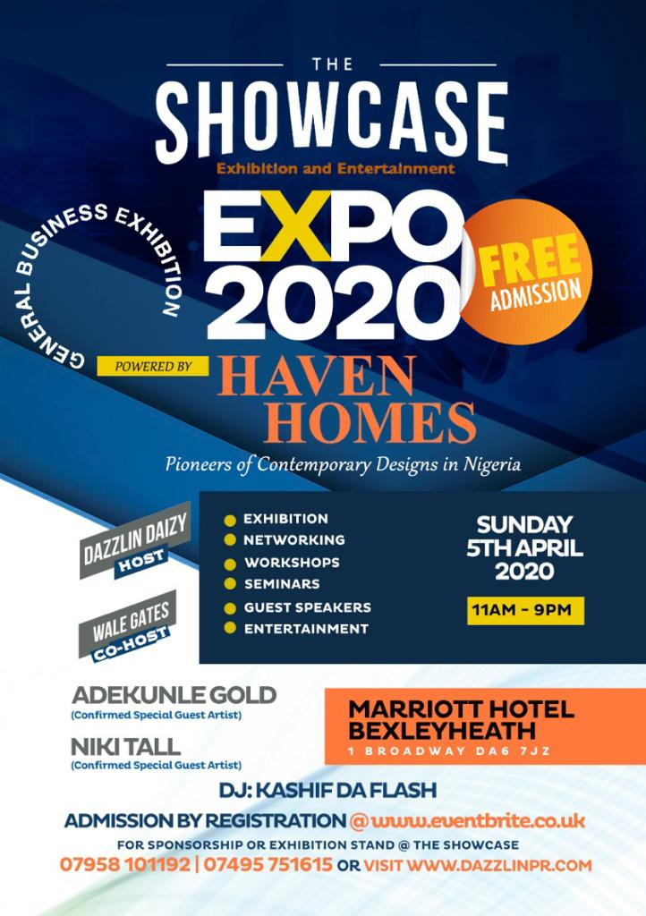 The SHOWCASE EXPO and ENTERTAINMENT (The SEE) *General Business Exhibition* Powered by HAVEN  HOMES @thehavenhomes ... Pioneers of Contemporary Designs in Nigeria.